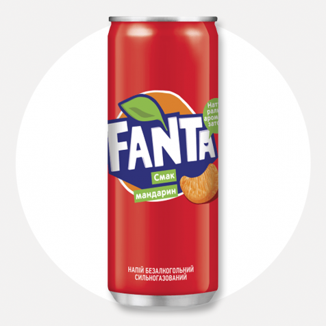 Напій Fanta Мандарин 0.33 л. ж/б