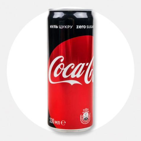 Напій Coca-Cola Zero 0,33л ж/б
